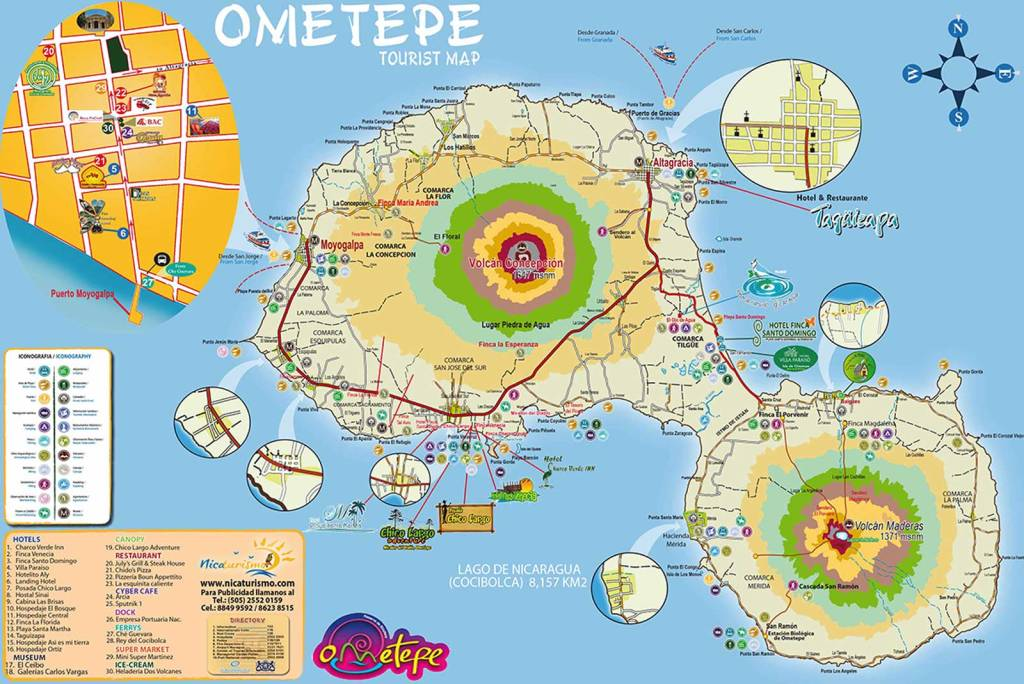 Mapa Ometepe
