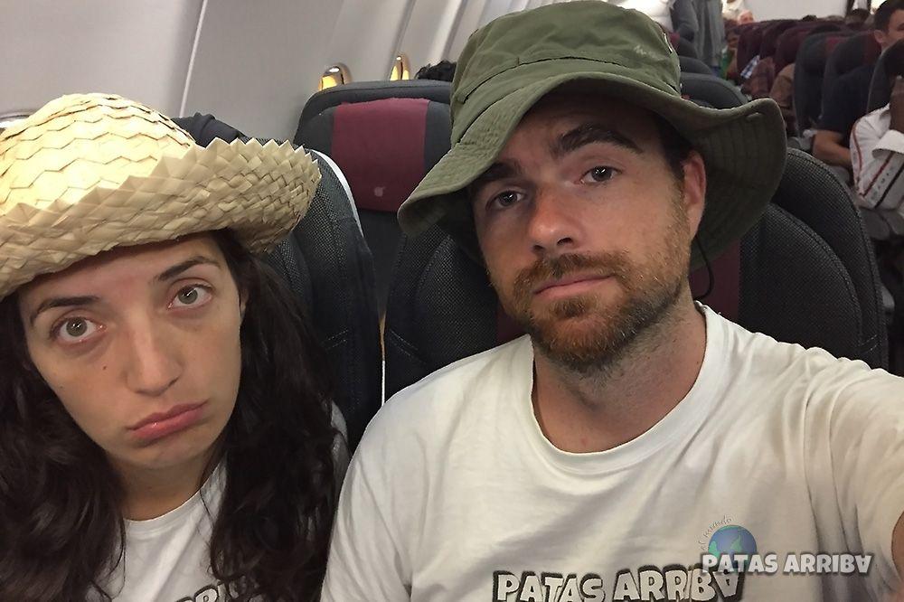 tristes vuelo de regreso vuelta al mundo