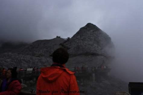 Vista del pico nevado desde la plataforma a 4506 metros