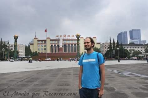 La gigantesca plaza de Tianfu