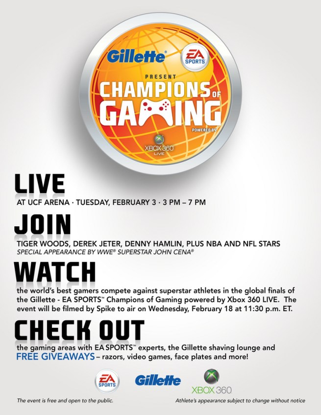 Gilette - EA Champions of Gaming