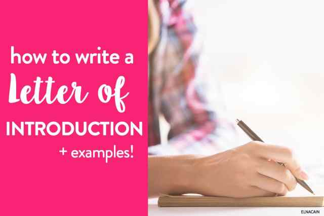 How to Write a Letter of Introduction: Your LOI Template - Elna Cain