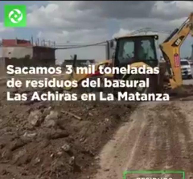 ACUMAR | Limpiaron 3 toneladas del Basural Las Achiras en La Matanza