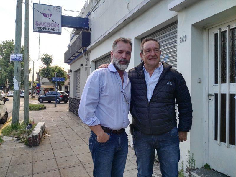 """Miguel Saredi junto a Walter Fresco: """"Siempre quisimos trabajar juntos por La Matanza""""."""