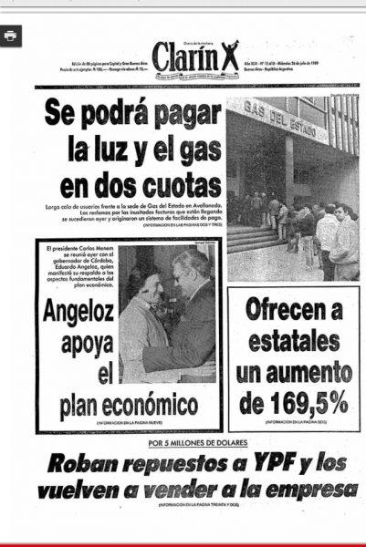Vecino de Ramos Mejia nos manda está tapa de Clarín de 1989