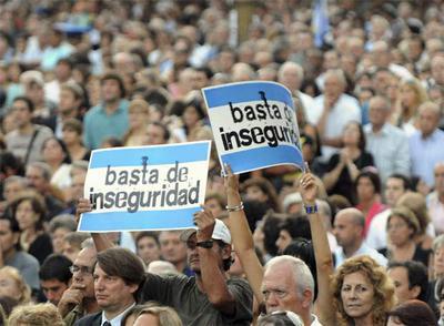 Marcha para terminar con la inseguridad en La Matanza