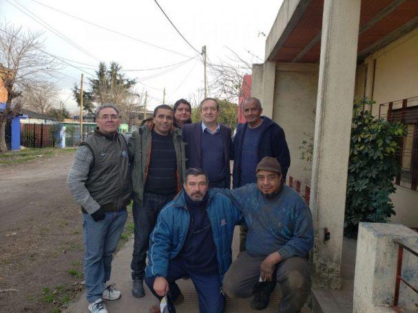 Miguel Saredi estuvo con Ex Combatientes Continentales en Laferrere #LaMatanza