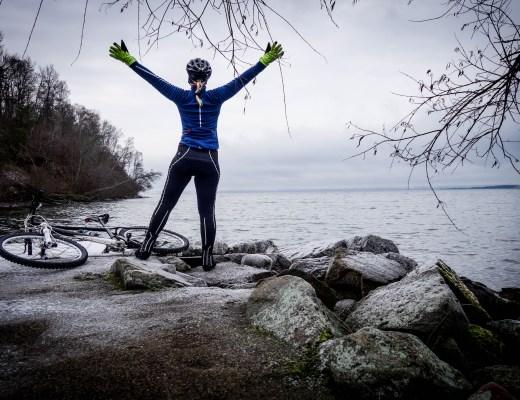 Vintercykling balans
