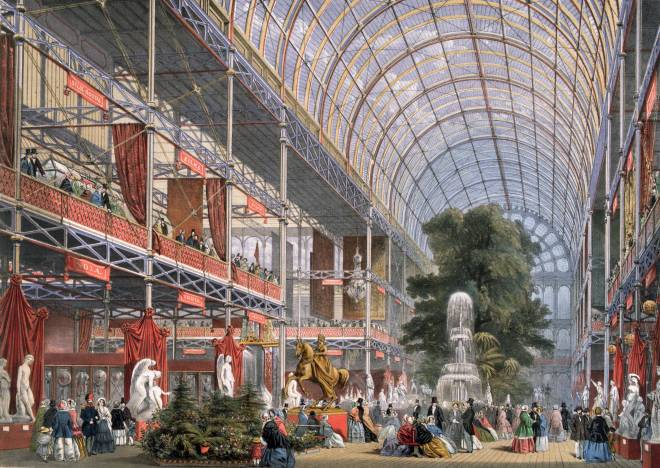 Queen Victoria opens the Great Exhibition at Crystal Palace in Hyde Park, 1851. (Historic-UK)