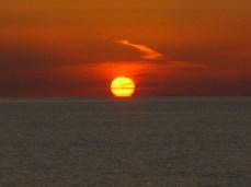 Puesta de Sol, costeando Túnez.