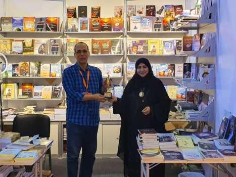 الكاتب أسامة إبراهيم والدكتورة نادية الصابغ