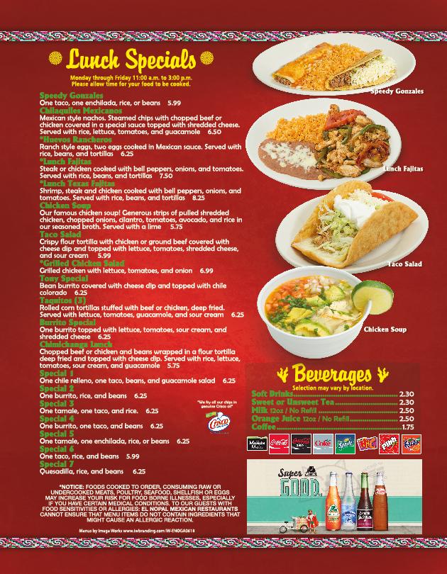 El Nopal El Nopal Ga Mexican Food Tacos Desserts