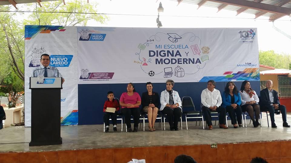 """Inicia el programa """"Mi Escuela Digna y Moderna"""" en Nuevo Laredo"""