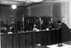 Oficina de Banesto en 1952