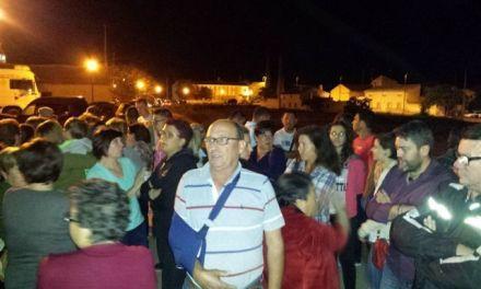 Manifestación en Pinilla contra la expropiación de los terrenos para construir la calle