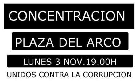 """""""Unidos contra la corrupciu00f3n en Caravaca"""""""