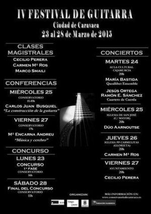 Cartel del Festival de Guitarra