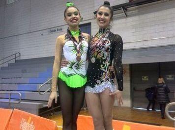 Ana Parrága y María Sánchez, plata y bronce en el Campeonato Regional Base de Gimnasia Rítmica