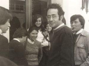 Fulgencio con un grupo de alumnos (años 70)