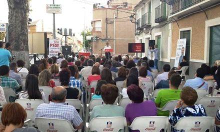Enrique Fuentes destacó en Barranda que el PSOE velará por la protección de los manantiales y los parajes naturales