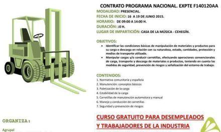 Abierto en Cehegín el plazo de inscripción en el curso de Carretillero