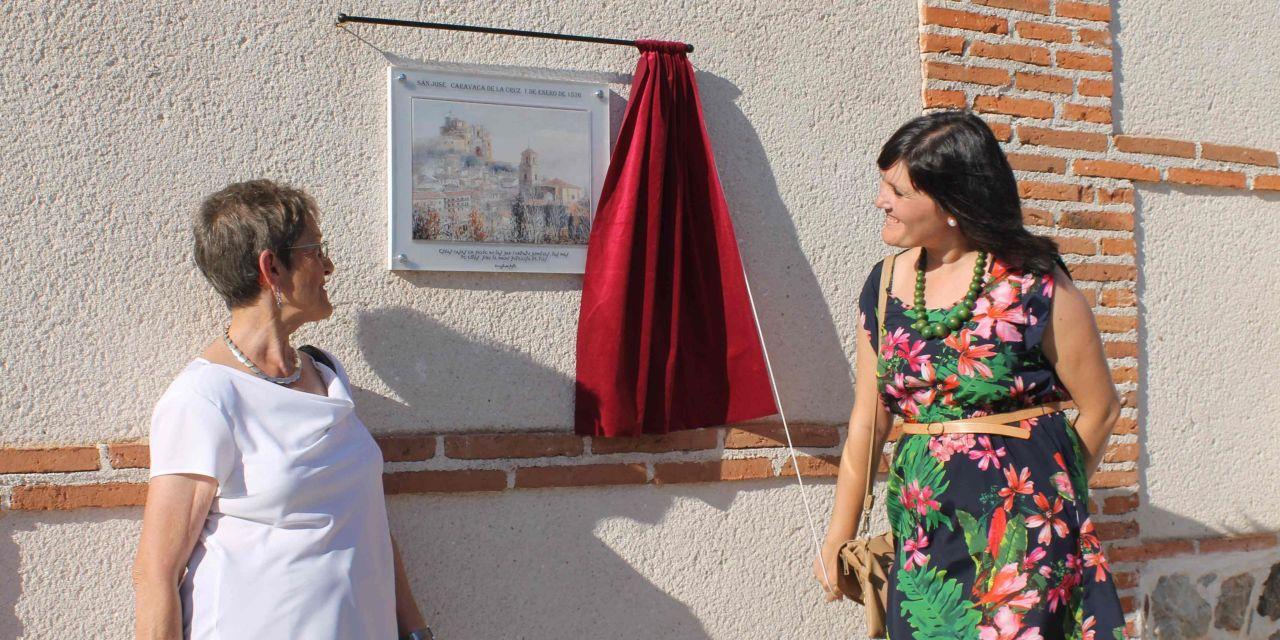 Gotarrendura le dedica una placa a Caravaca en el lugar donde Santa Teresa pasó parte su infancia y juventud