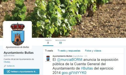 El Ayuntamiento de Bullas abre perfiles en Twitter y Facebook