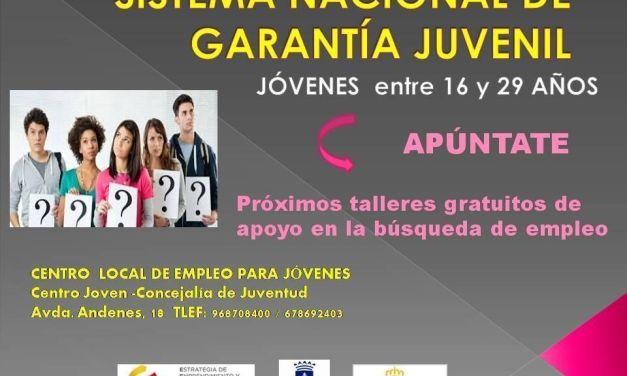 Juventud Caravaca oferta cursos para la inserción laboral dentro de las acciones del Sistema Nacional de Garantía Juvenil
