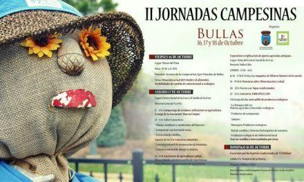 Las II Jornadas Campesinas se celebran en Bullas del 16 al 18 de octubre