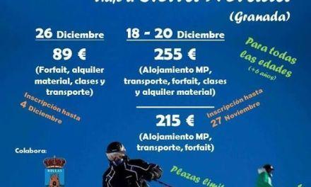 Juventud en Bullas organiza viajes a la nieve para practicar el esquí o snow
