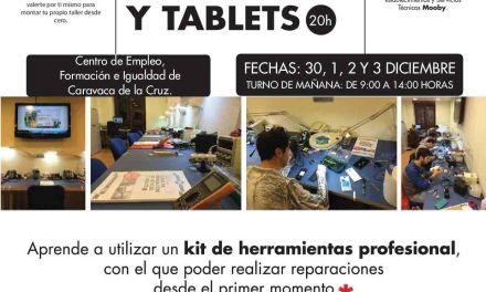 La Concejalía de Empleo de Caravaca oferta un curso formativo para la reparación de dispositivos móviles