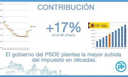 El PP denuncia que el Gobierno del PSOE prepara la mayor subida del IBI en Caravaca de las últimas décadas