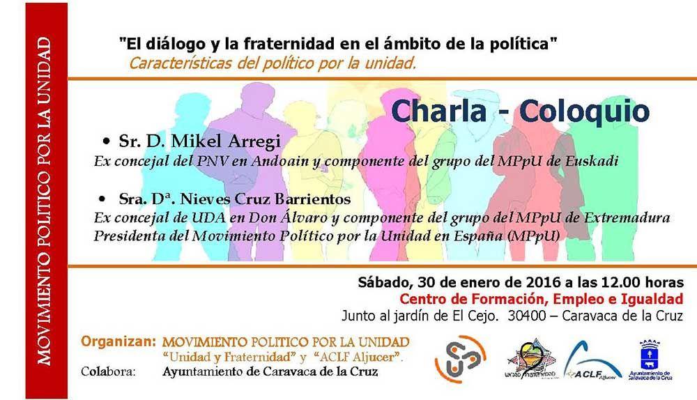 Una charla coloquio sobre diálogo y fraternidad reúne en Caravaca a políticos de diferentes partidos