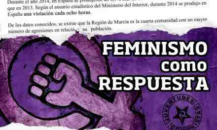 Juventudes Comunistas denuncia la inacción de las instituciones cuando Murcia es la cuarta comunidad donde más violaciones se producen en relación a su población