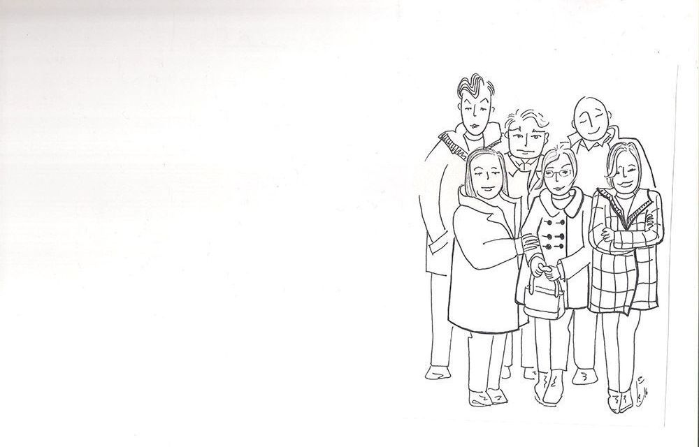 Seis amigos en la Casa de Cristo
