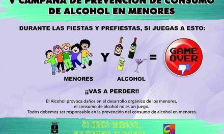 Juventud Caravaca inicia la campaña 'Alcohol y menores; si juegas a esto, vas a perder'