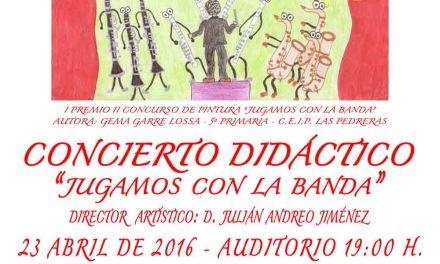 """Concierto didáctico en Calasparra """"Jugamos con la Banda"""" para celebrar el Día del Libro"""