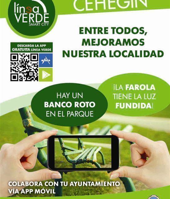 El Ayuntamiento de Cehegín implanta un nuevo servicio de comunicación de incidencias a través de app móvil