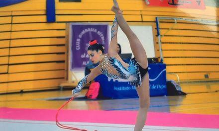 La gimnasta caravaqueña María Sánchez Aznar, tercera en el Campeonato de Andalucía
