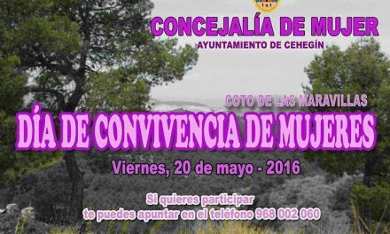 Presentada una jornada de convivencia entre las mujeres de Cehegín