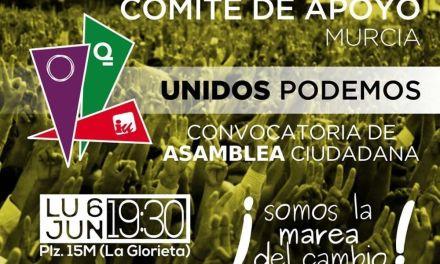La ciudadanía podrá participar en la campaña de Unidos Podemos en Murcia