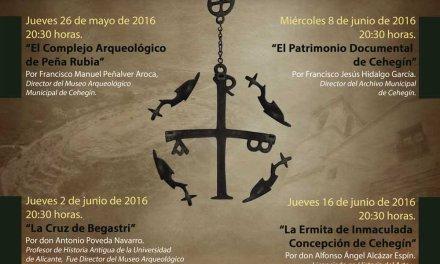 """El profesor Antonio Poveda habla hoy sobre """"La Cruz de Begastri"""" en el Ciclo sobre Patrimonio Histórico"""