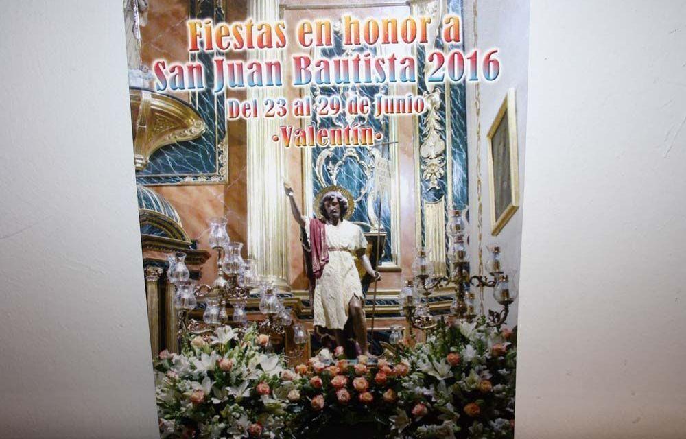 La pedanía de Valentín comienza hoy un intenso programa de actos festivos en Honor a San Juan Bautista