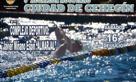 El VI Acuatlón Nocturno 'Ciudad de Cehegín' se celebrará el próximo sábado, 16 de julio