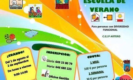 La Escuela de Verano para personas con diversidad funcional comienza en Bullas el 1 de agosto