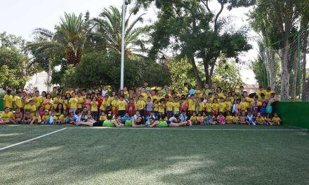 Más de cien niños, en la escuela de verano de La Loma en Caravaca