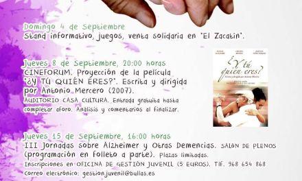 Las actividades en conmemoración del Día Mundial del Alzheimer dan comienzo en Bullas