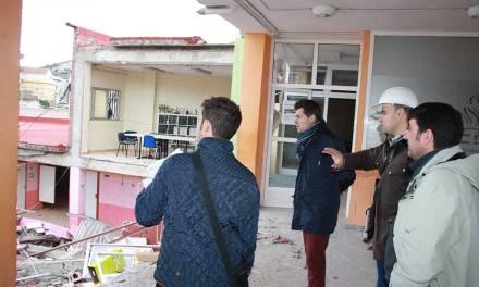 El Equipo de Gobierno, junto con técnicos independientes, estudia las causas del derrumbe del pabellón municipal de deportes de Cehegín