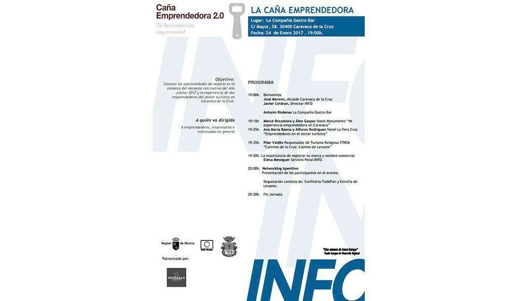 'La caña emprendedora' abre su edición de 2017 el 24 de enero en Caravaca de la Cruz