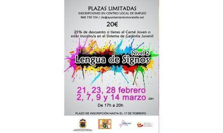El Ayuntamiento de Moratalla continúa promoviendo la formación en lengua de signos con el curso de Nivel 2